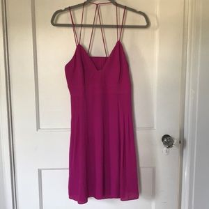 Express purple cutout dress